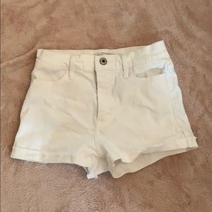 Abercrombie high rise white shorts kids
